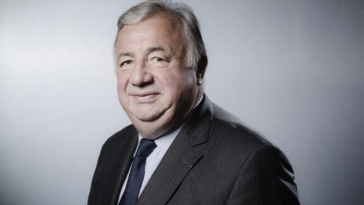 Le président du Sénat Gérard Larcher au Palais du Luxembourg, le 06 juin 2018