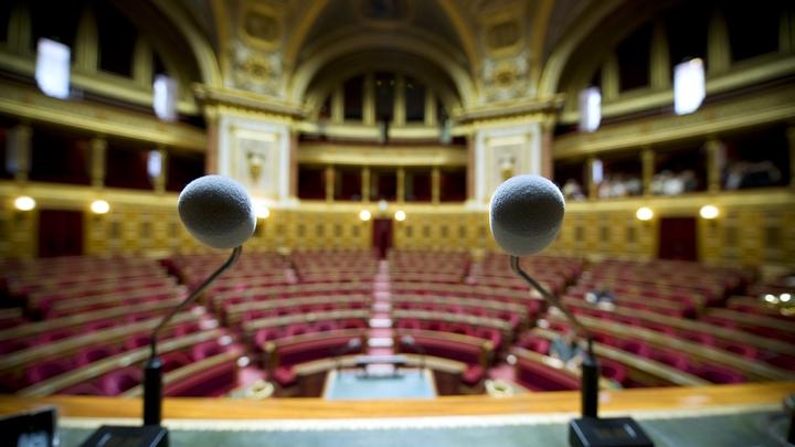 L'hémicycle du Sénat, au Palais du Luxembourg à Paris