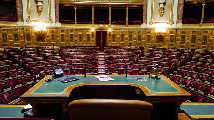 L'hémicycle du Sénat vu du perchoir du président