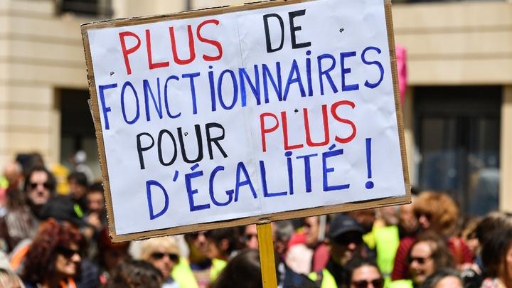 Manifestation contre le projet de réforme de la fonction publique, à Marseille, le 9 mai 2019