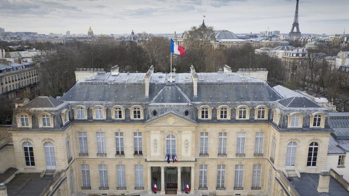 Vue aérienne du Palais de l'Elysée à Paris prise le 12 mars 2019