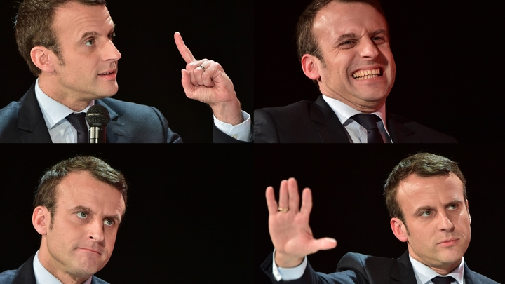 Emmanuel Macron, le 1er février 2017 à La Défense