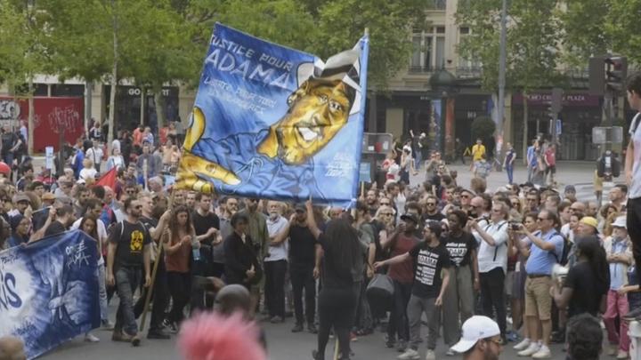 26 mai 2018, manifestation contre la politique du gouvernement à Paris.