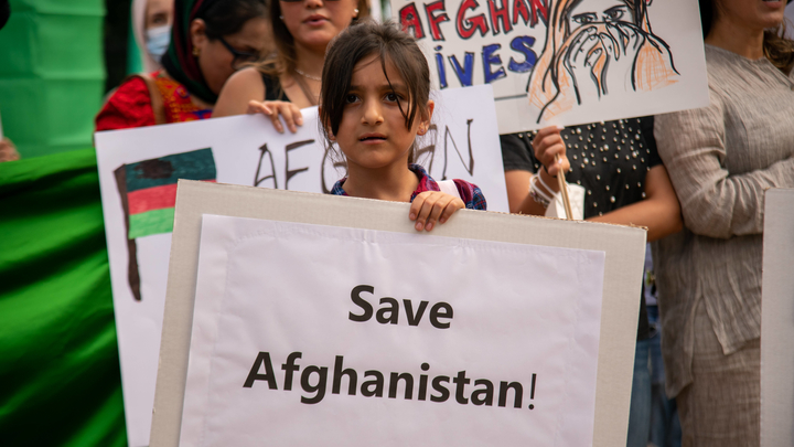 DC: Protest in Support of Afghan People in Lafayette Square