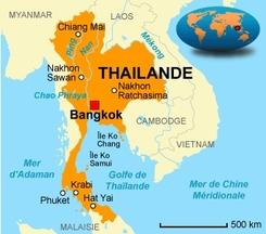 Carte Thaïlande