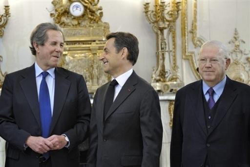 Nicolas Sarkozy et Michel Charasse