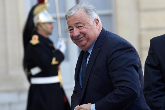 Le président du Sénat Gérard Larcher, arrivant à l'Elysée, à Paris, le  mars