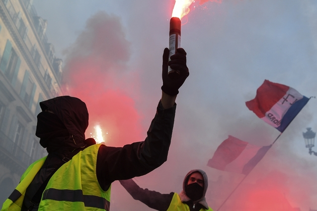 """""""Gilets jaunes"""" lors de la manifestation du 5 février 2019 à Paris"""