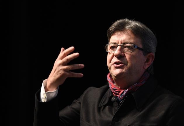 Jean-Luc Mélenchon, candidat de la France insoumise à la présidentielle, lors d'un meeting de campagne, le 19 janvier 2017 à Florange