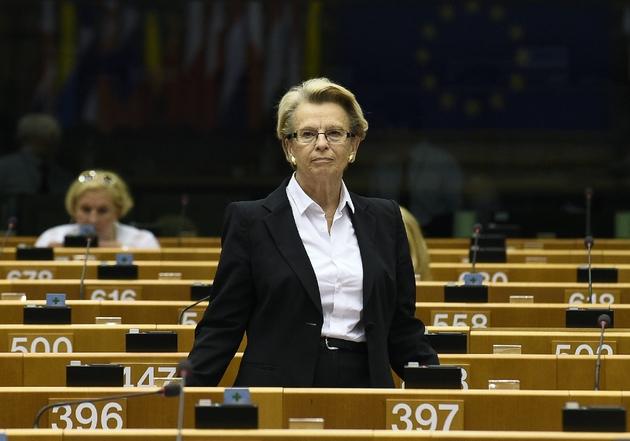 Michèle Alliot-Marie, le 23 juin 2016, à Bruxelles