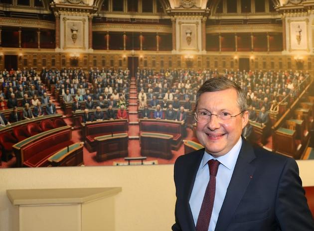 Philippe Bas, président de la commission des Lois du Sénat pose le 24 juillet 2018