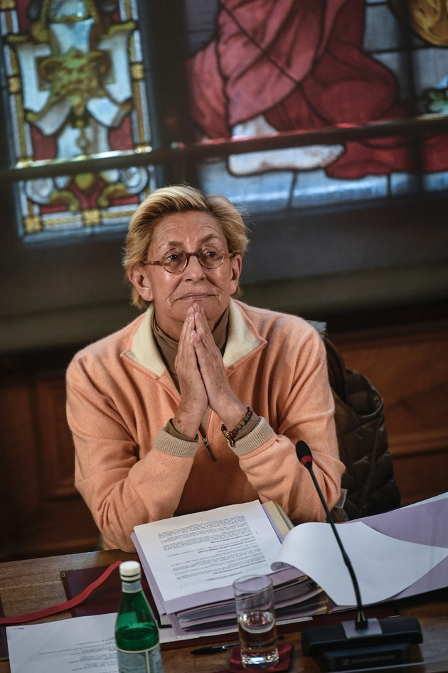 Isabelle Balkany, première adjointe au maire de Levallois-Perret, lors du conseil municipal de la ville, le 15 avril 2019