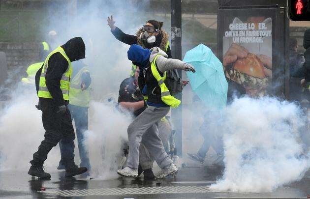 """Manifestation de """"gilets jaunes"""", le 9 mars 2019 à Quimper"""
