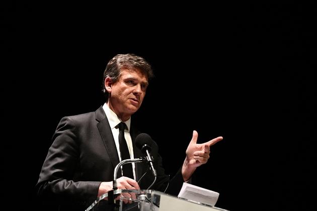 Arnaud Montebourg en meeting pour la primaire le 9 janvier 2017 à Paris