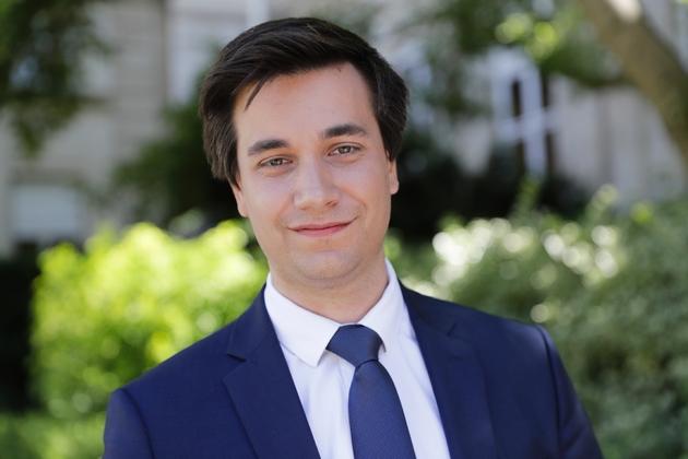 Le député Pierre Person pose à Paris, le 19 juin 2017