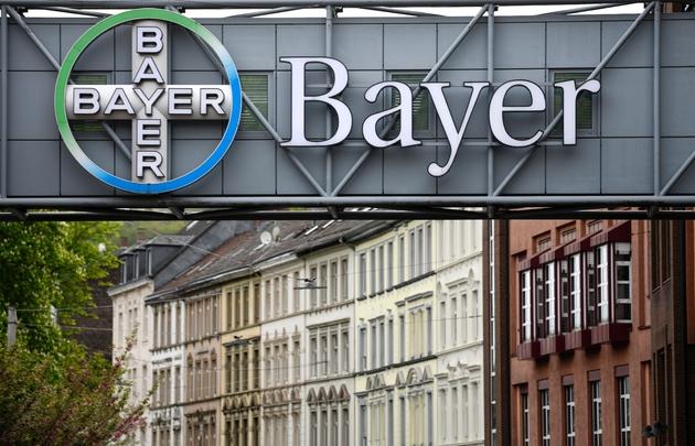 Le logo de Bayer, le 23 avril 2019 à Wuppertal, en Allemagne