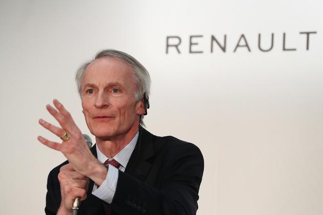 Le président de Renault Jean-Dominique Senard le 12 mars 2019 lors d'une conférence de presse au siège de Nissan, à Yokohama