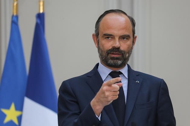 Le Preemier ministre Edouard Philippe détaille les mesures pour la reconstruction de Notre-Dame lors d'une conférence de presse après le conseil des ministre, le 17 avril 2019 à Paris.