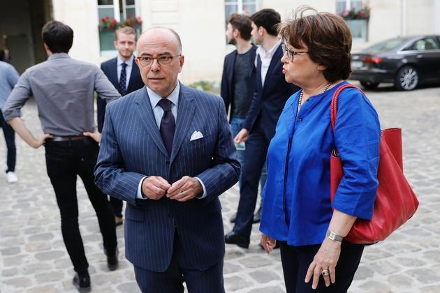 Bernard Cazeneuve et Martine Aubry se retrouvent au Sénat, le 17 juillet 2019