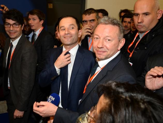 Le vainqueur de la primaire organisée par le PS Benoît Hamon, le 2 février 2017 au Salon des Entrepreneurs