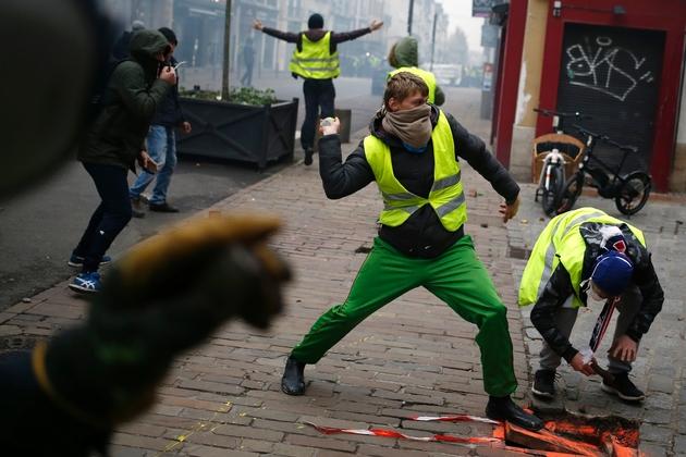 """Manifestation de """"gilets jaunes"""" à Rouen, le 5 janvier 2019"""