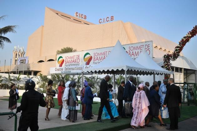 Arrivée des participants au sommet Afrique-France le 14 janvier 2017 à Bamako
