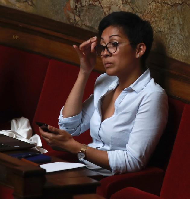 La député LREM Aina Kuric le 2 août 2017 à l'Assemblée nationale le 2 août 2017