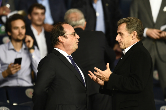 F.Hollande et N.Sarkozy au Parc des Princes