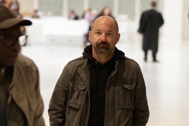 Vincent Crase, un proche d'Alexandre Benalla, arrive au tribunal de Paris, le 19 février 2019