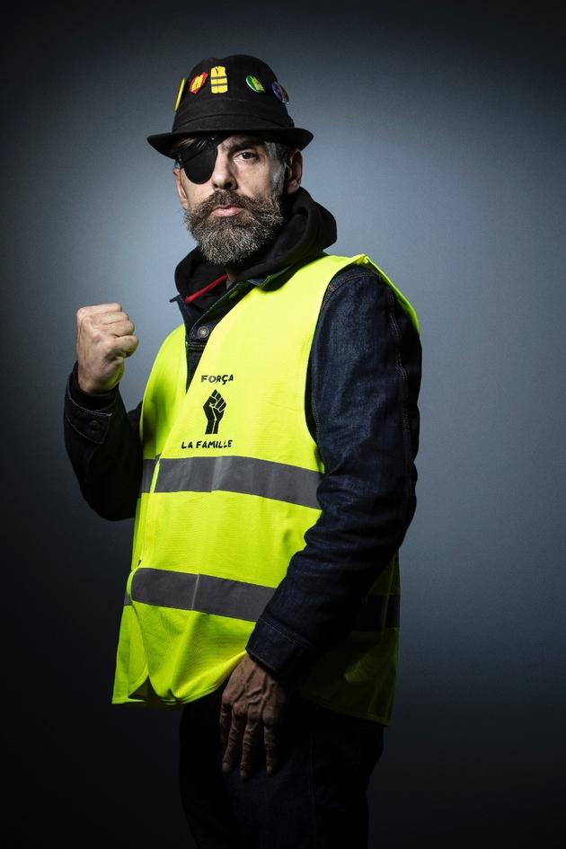 Jerome Rodrigues, une des figures des gilets jaunes, le 6 février 2019