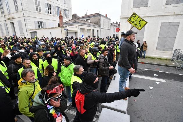"""Manifestation de """"gilets jaunes"""", le 12 janvier 2019 à La Rochelle"""