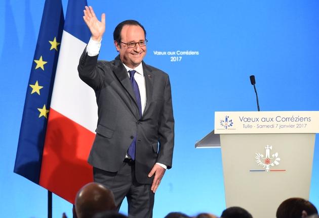 Le président François Hollande, le 7 janvier 2017 à Tulle (Corrèze)