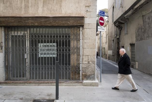 Un commerce à vendre dans le centre-ville de Carcassonne, en février 2018