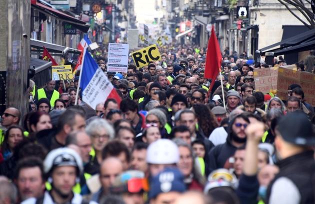 """Manifestation à l'appel de """"gilets jaunes"""", le 9 février 2019 à Bordeaux"""