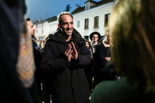 """L'essayiste et fondateur du mouvement """"Place publique"""" Raphaël Glucksmann à Montreuil, près de Paris, le 15 novembre 2018"""