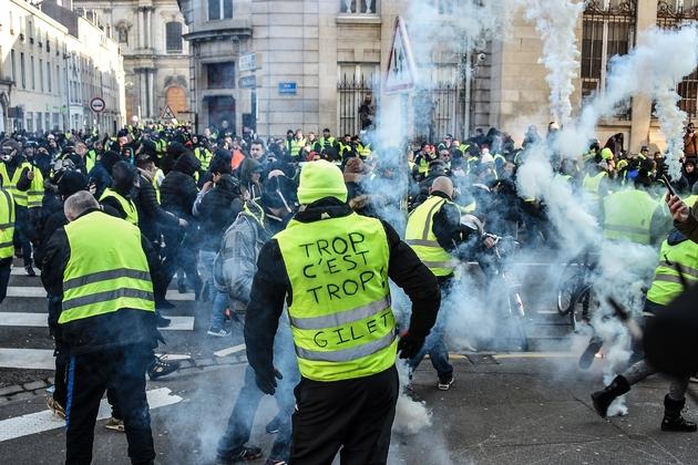 """Manifestation des """"gilets jaunes"""", le 19 janvier 2019 à Nancy"""