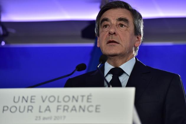 Francois Fillon à Paris le 23 avril 2017