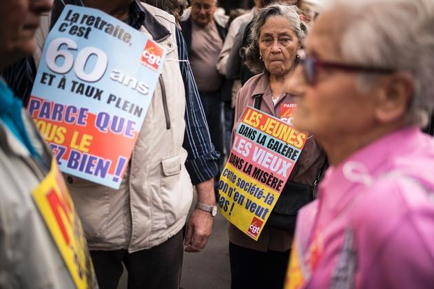 Des retraités manifestent à Paris le 29 septembre 2016