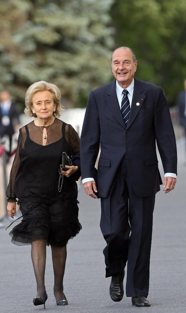Bernadette et Jacques Chirac le 15 juillet 2006 à Saint-Pétersbourg