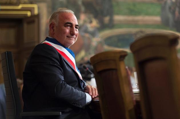 Le maire de Lyon Georges Képénékian, le 17 juillet 2017 à la mairie de Lyon