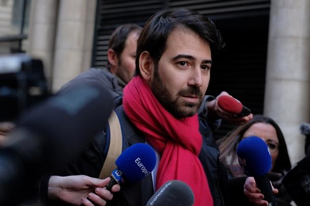 L'avocat de François Fillon, Antonin Levy, à la sortie du au pôle financier le 26 janvier 2017 à Paris