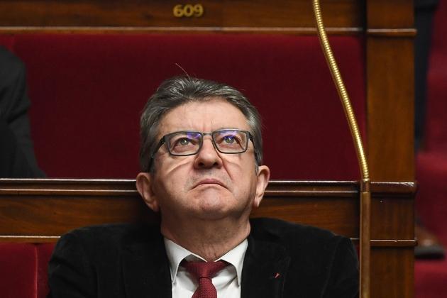 Le chef de file de La France insoumise (LFI) Jean-Luc Mélenchon à l'Assemblée nationale à Paris, le 23 janvier 2019