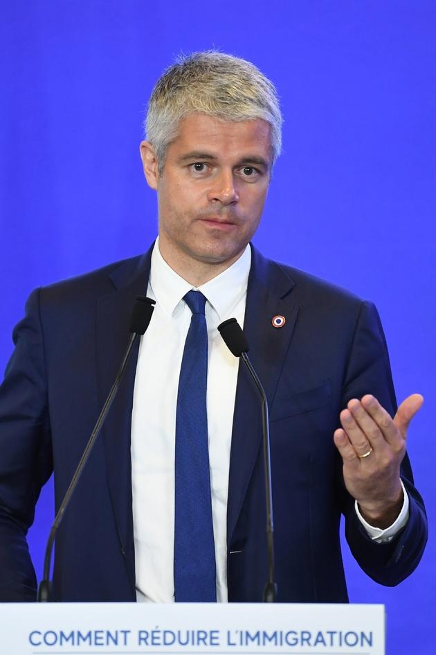 Le président du parti Les Républicains Laurent Wauquiez, à Paris le 18 avril 2018