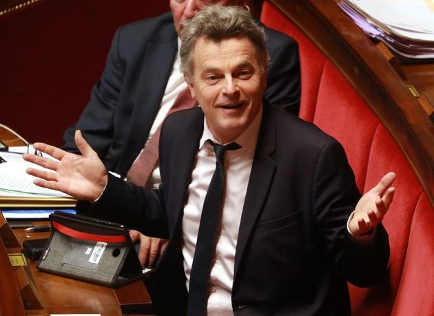 Le député et numéro un du PCF Fabien Roussel lors du débat sur les retraites à l'Assemblée, le 24 février 2020