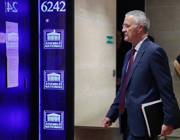 Patrick Strzoda, directeur du cabinet d'Emmanuel Macron à l'Elysée, arrive devant la commission d'enquête de l'Assemblée nationale le 24 juillet 2018