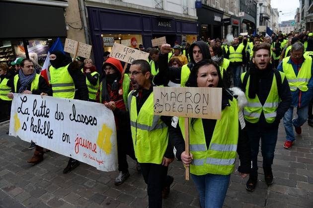 """Manifestation de """"gilets jaunes"""" le 5 janvier 2019 au Mans"""