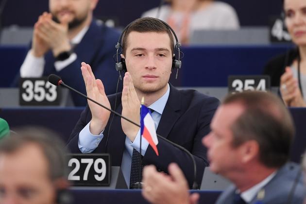 L'eurodéputé RN Jordan Bardella, le 3 juillet 2019 au Parlement européen