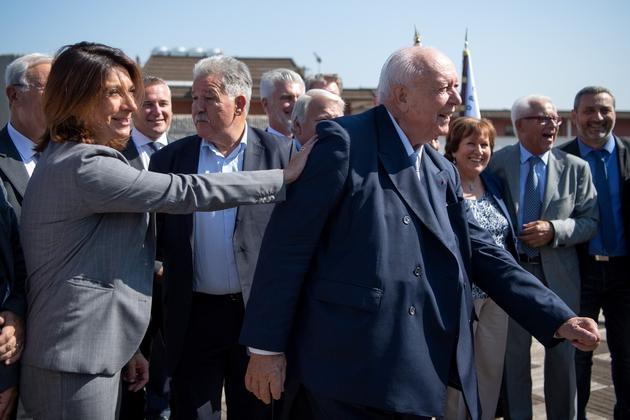 Martine Vassal et Jean-Claude Gaudin à Marseille, le 20 septembre 2018