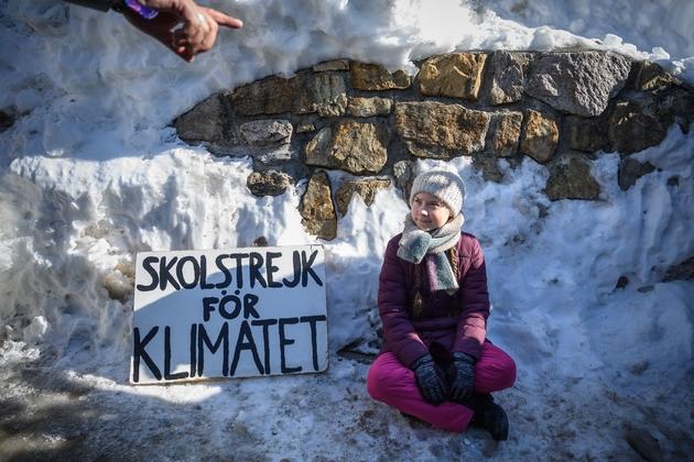 La militante écologique suédoise Greta Thunberg, le 25 janvier 2019 à Davos, en Suisse