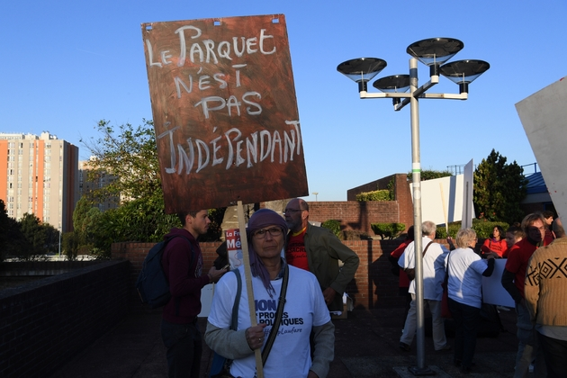 Manifestation des soutiens de LFI le 19 septembre 2019 à Bobigny